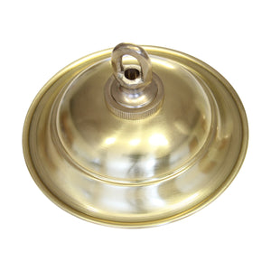 Canopy BR05 Traditional Round Ceiling Canopy, Antique Brass