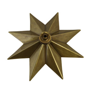 Canopy BR11H Modern Star Ceiling Canopy, Antique Brass