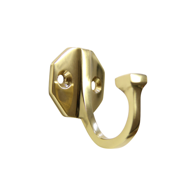 Octo Hook BR2553 Decorative Wall Hook, Polished Brass