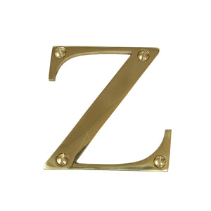 Letter BR2350 Modern, Serif House Letter, Polished Brass