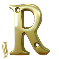 Letter BR2351 Modern, Serif House Letter, Polished Brass