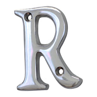 Letter BR2351 Modern, Serif House Letter, Polished Chrome