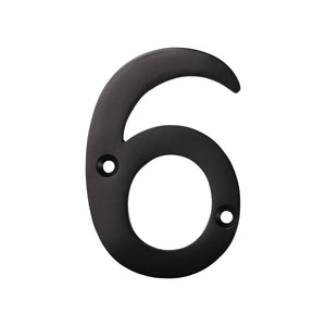 Number BR2270 Modern, Serif House Number, Oil Bronzed Black