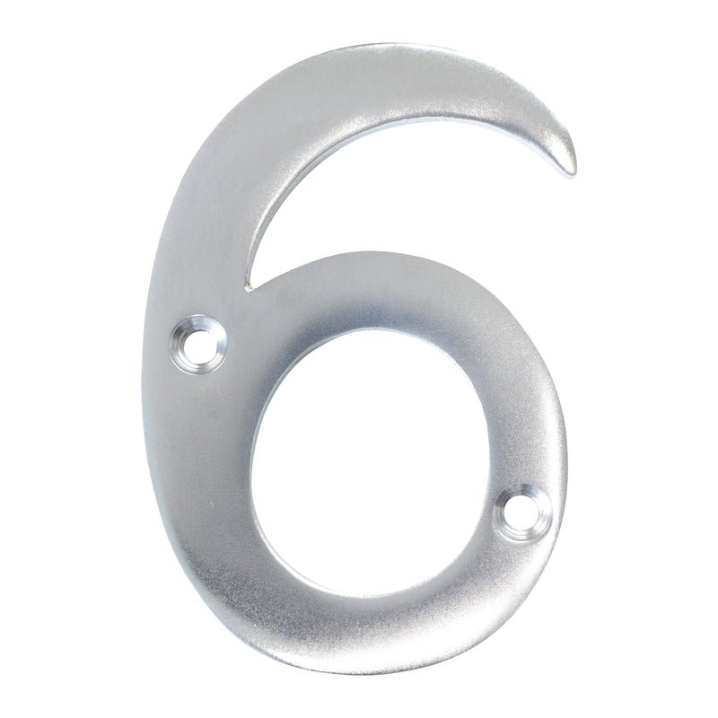 Number BR2270 Modern, Serif House Number, Satin Chrome