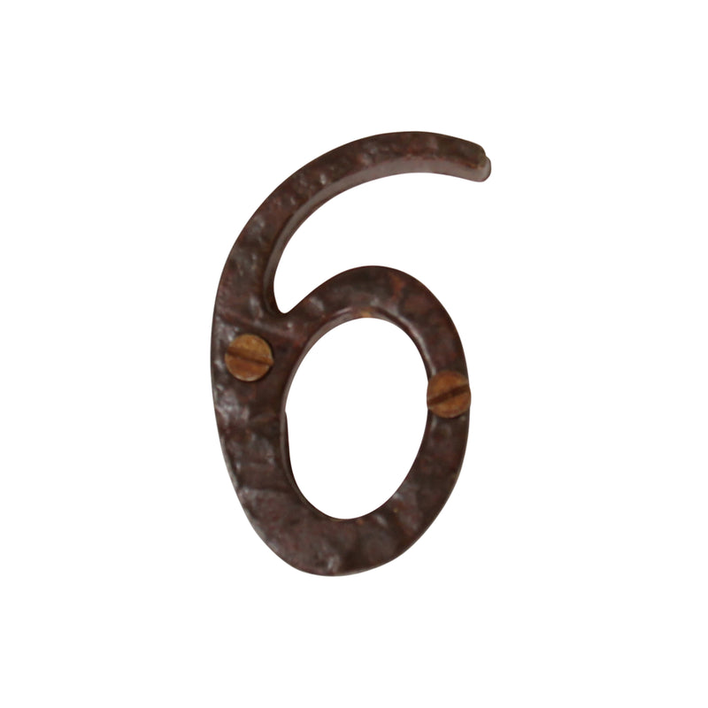Number IR530 Vintage, Serif House Number, Rust
