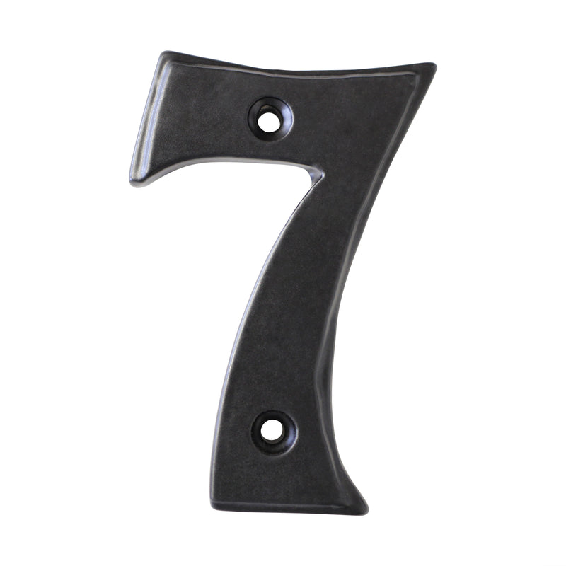 Number IR750 Vintage, Serif House Number, Black