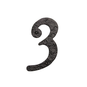 Number IR830 Vintage, Serif House Number, Black