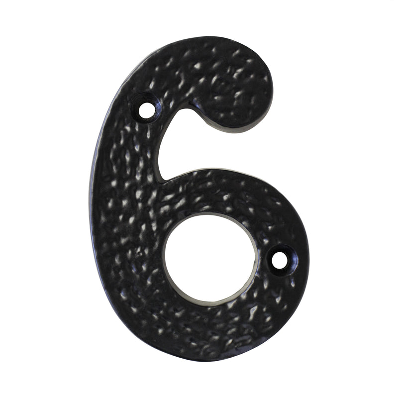 Number IR831 Modern, Serif House Number, Black
