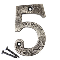 Number IR832 Rustic, Serif House Number, Antique Nickel