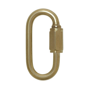 Quick-Link SS03 Threaded, Screw Lock Quick Link, Antique Brass