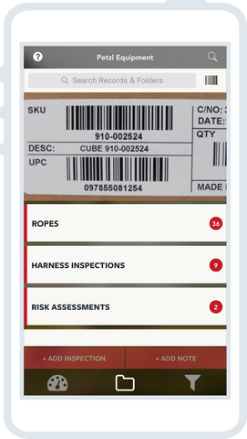 Papertrail Barcode Scanning with the mobile app