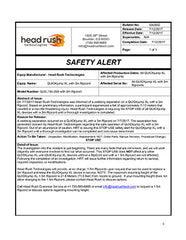 Official Safety Notice from Headrush Technologies