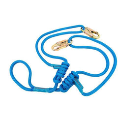 ez adjust lanyard in blue with small clips and girth hitch attachment