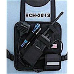 4 Point Radio Chest Harness with Velcro Pouch