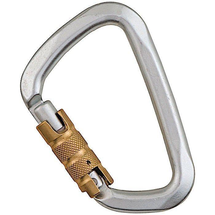 "Liberty Mountain Hard Steel Large ""D"" Key Lock Carabiner - Aerial Adventure Tech"