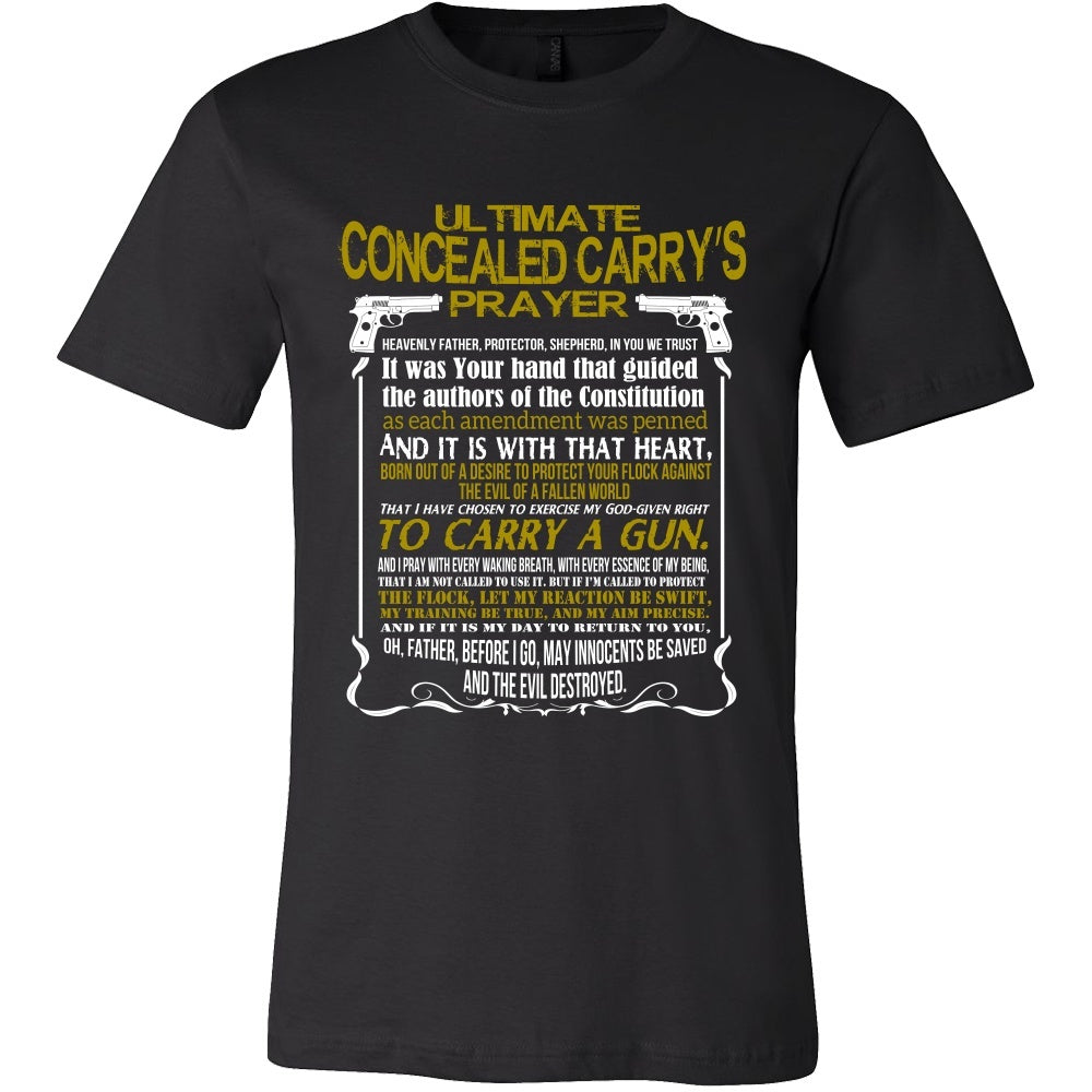 T-shirt - Concealed Carry Prayer T-Shirt