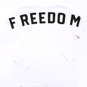 FREEDOM SWEATSHIRT - WHITE