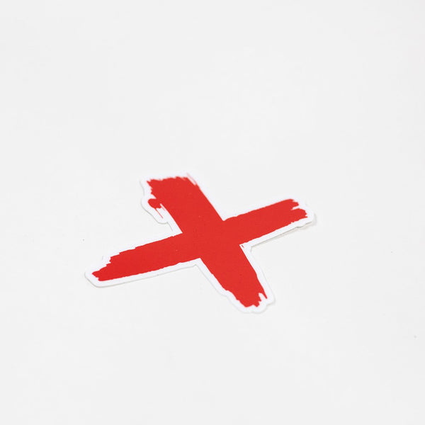 The Red X Sticker
