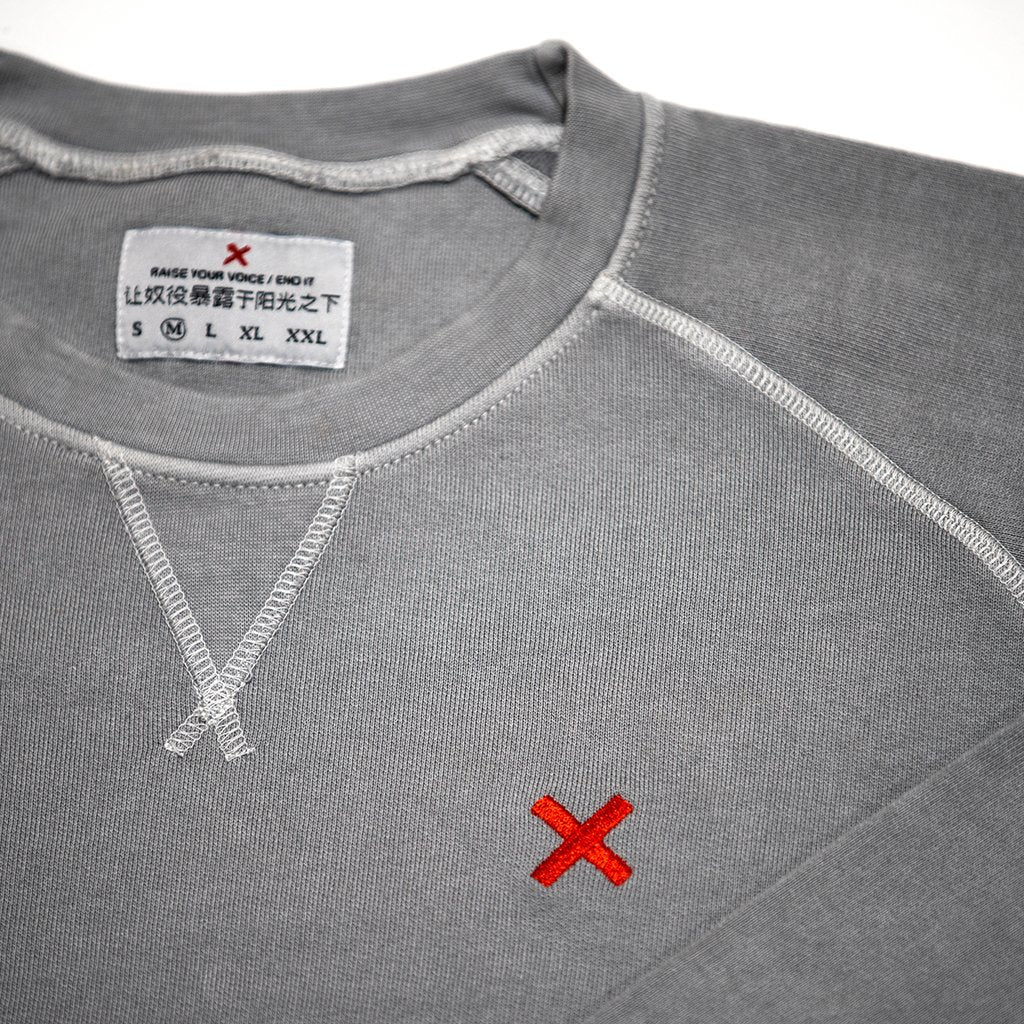 X EMBROIDERED PULLOVER