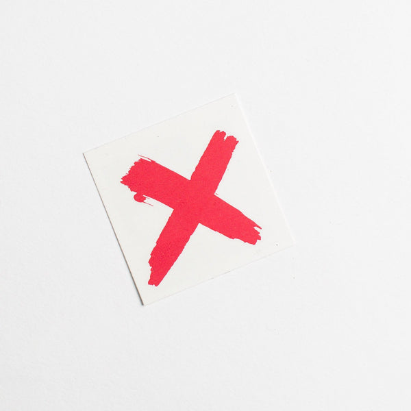 RED X Temporary Tattoo