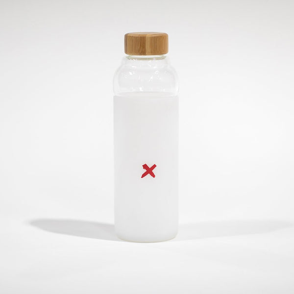 RED X WATER BOTTLE