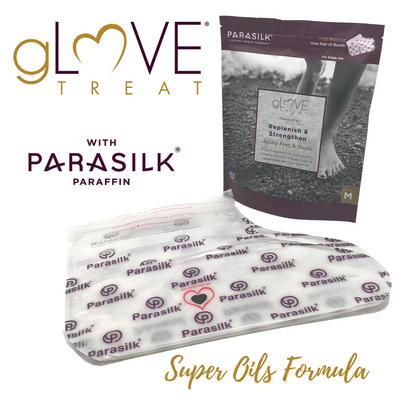 gLOVE Treat with Parasilk Paraffin Super Oil Retail Single Use Boot