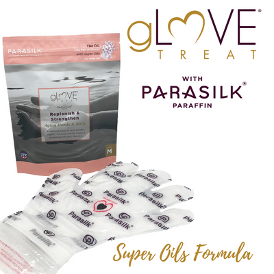 gLOVE Treat with Parasilk Paraffin Super Oil Retail Single Use Glove