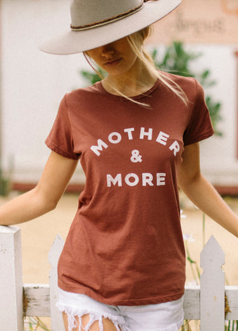 Mother & More Everyday Tee - Rust