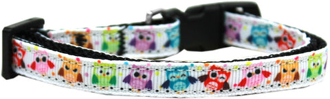 Bright Owls Nylon Ribbon Cat Kitten Safety Collar