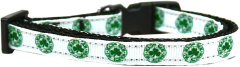 Kiss Me - I'm Irish Nylon Ribbon Cat Kitten Safety Collar
