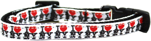I Heart NY Ribbon Cat Kitten Safety Collar