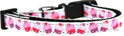 Pink and Purple Cupcakes Nylon Ribbon Cat Kitten Safety Collar