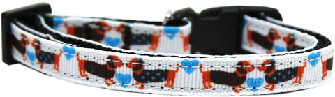 Doxie Love Nylon Ribbon Cat Kitten Safety Collar