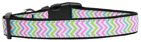 Summer Chevrons Nylon Dog Pet Puppy Collar