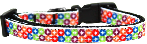 Bright Diamonds Nylon Ribbon Cat Kitten Safety Collar