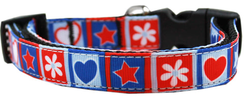 Stars and Hearts Nylon Cat Kitten Safety Collar