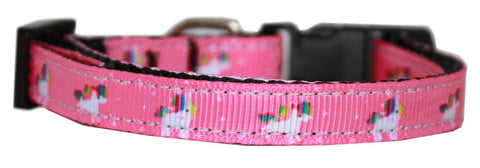 Pink Unicorn Nylon Cat Kitten Safety Collar