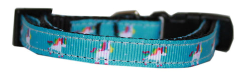 Blue Unicorn Nylon Cat Kitten Safety Collar