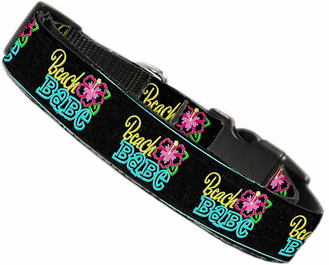Beach Babe Nylon Dog Pet Puppy Collar