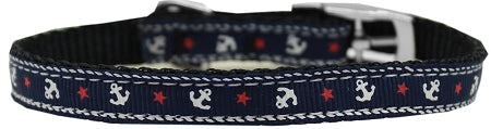 Anchors Nylon Dog Pet Puppy Collar with classic buckle