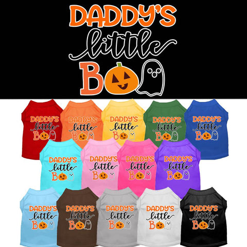 Daddy's Little Boo Screen Print Pet Puppy Cat Dog Shirt
