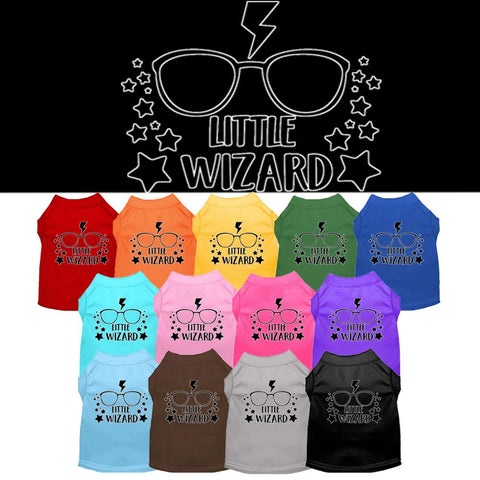 Little Wizard Screen Print Pet Puppy Cat Dog Shirt