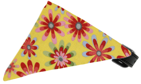 Yellow Crazy Daisies Dog Pet Puppy Bandana Collar