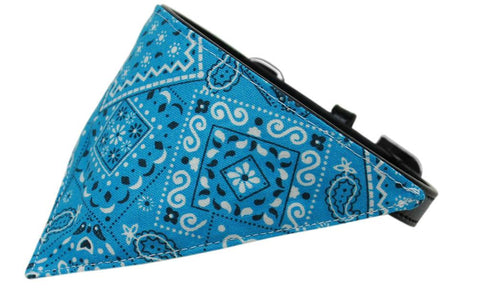Turquoise Western Dog Pet Puppy Bandana Collar