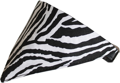 Zebra Print Dog Pet Puppy Bandana Collar