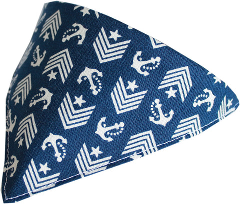Blue Anchor Dog Pet Puppy Bandana Collar