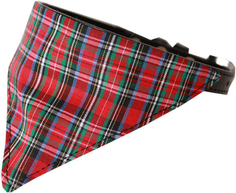 Red Plaid Dog Pet Puppy Bandana Collar