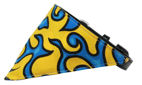 Yellow Flame Dog Pet Puppy Bandana Collar