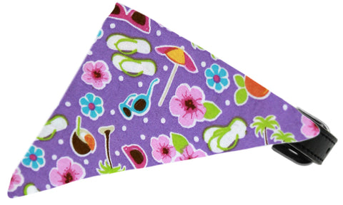 Purple Summer Fun Dog Pet Puppy Bandana Collar