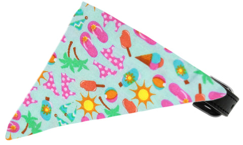 Aqua Summer Fun Dog Pet Puppy Bandana Collar